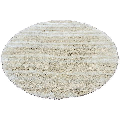 Chandra Kapaa KAP15501 Cream Shag Rug