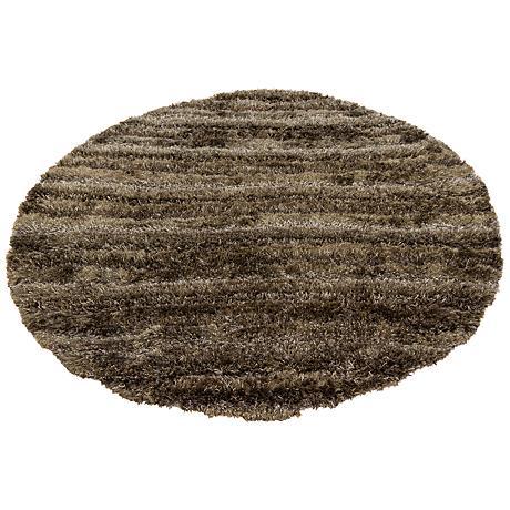 Chandra Kapaa KAP15502 Brown Shag Rug