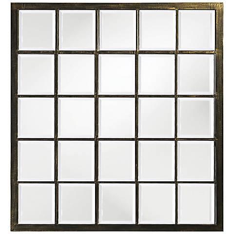"Howard Elliott Superior Black 34"" x 38"" Wall Mirror"
