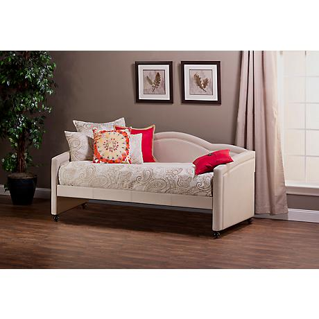 Hillsdale Jasmine Linen-Stone Fabric Daybed