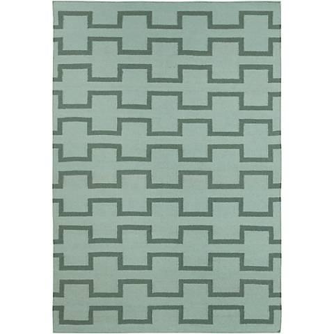 Chandra Lima LIM25701 Green Wool Area Rug