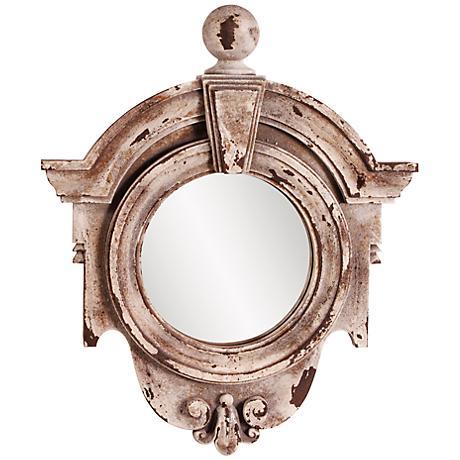 """Howard Elliott Winthrop Rustic Faux Stone 18"""" x 21"""" Mirror"""