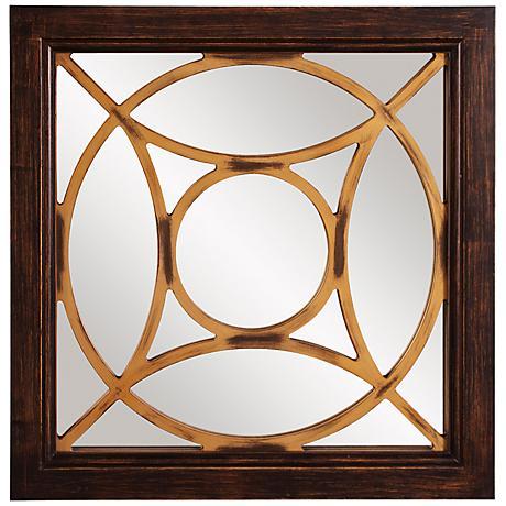 """Howard Elliott Ignatius 24"""" Square Wall Mirror"""