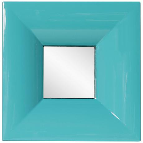 "Howard Elliott Candy Teal 9"" Square Wall Mirror"
