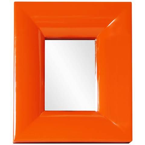 """Howard Elliott Candy Orange 10"""" x 12"""" Wall Mirror"""