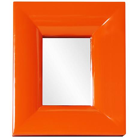 "Howard Elliott Candy Orange 10"" x 12"" Wall Mirror"