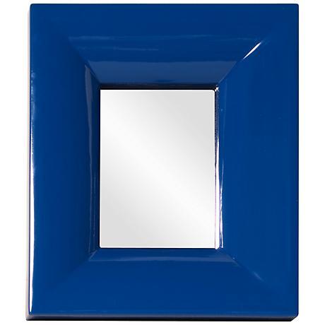 """Howard Elliott Candy Blue 10"""" x 12"""" Wall Mirror"""