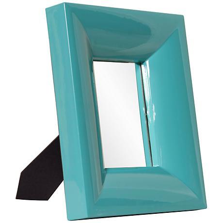 "Howard Elliott Candy Teal 10"" x 12"" Wall Mirror"