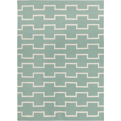 Chandra Lima LIM25702 Mint Wool Area Rug