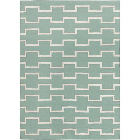 Chandra Lima LIM25702 Mint Wool Area Rug