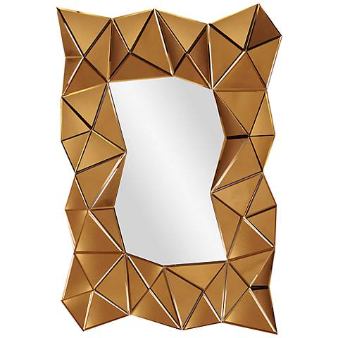 "Howard Elliott Venus Copper 32"" x 47"" Wall Mirror"
