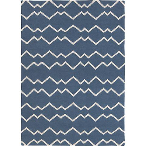 Chandra Lima LIM25704 Blue Wool Area Rug