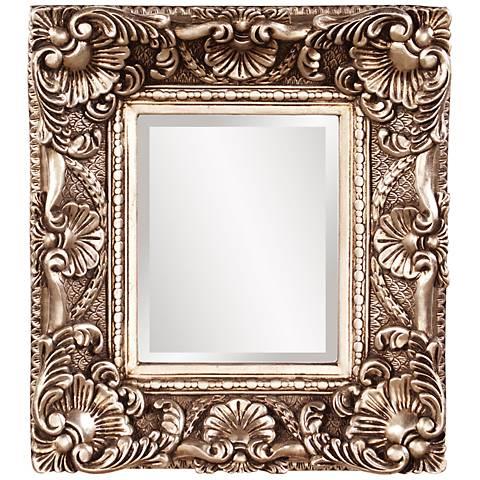 "Howard Elliott Horace Silver Leaf 15"" x 17"" Accent Mirror"