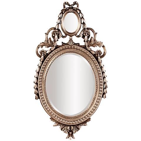"""Howard Elliott Pomeroy Silver Leaf 23"""" x 43"""" Mirror"""