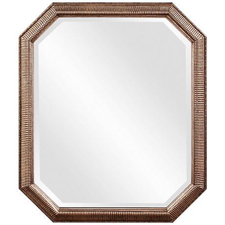 """Howard Elliott Virginia Silver Leaf 30"""" x 36"""" Wall Mirror"""