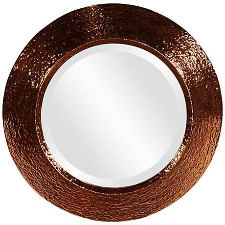 "Howard Elliott Nashville Convex 18"" Round Wall Mirror"