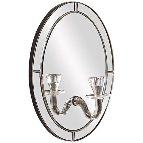 "Howard Elliott Opal 12"" x 16"" Wall Mirror and Candleholder"