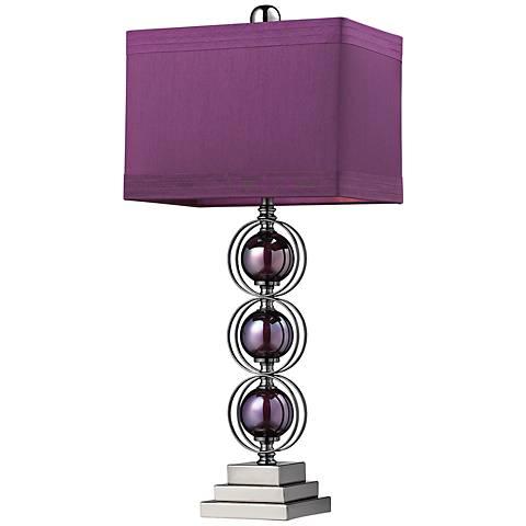 Dimond Alva Purple Black Nickel Sphere Table Lamp