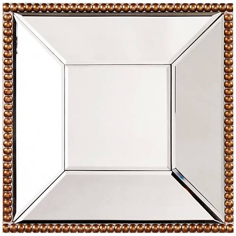 "Howard Elliott Lydia Gold 12"" Square Wall Mirror"