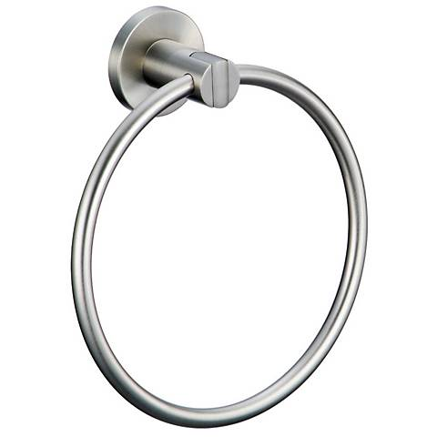 Gatco Channel Satin Nickel Towel Ring