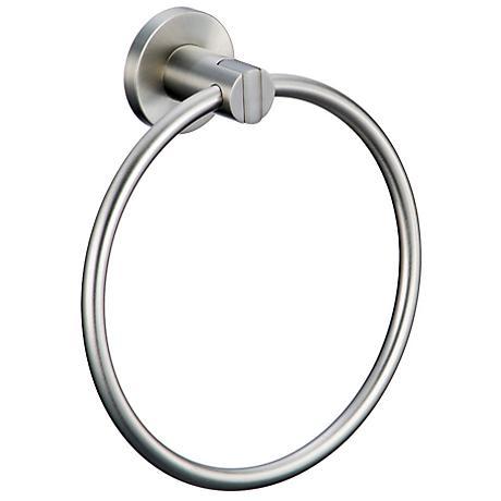 Gatco Channel Satin Nickel Towel Ring