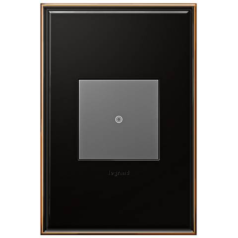 Oil-Rubbed Bronze 1-Gang Cast Metal Wall Plate with Switch