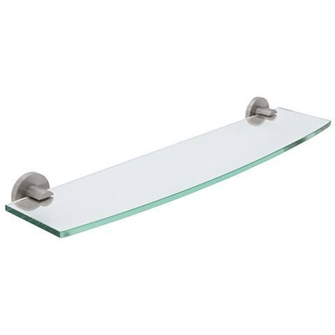 Gatco Channel Satin Nickel Tempered Glass Shelf