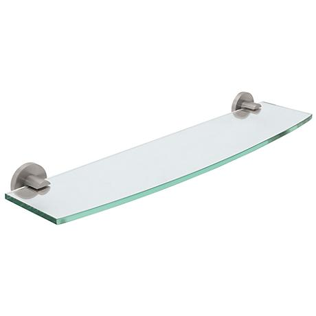 Gatco Channel Satin Nickel Tempered Glass Shelf