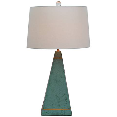 Luxor Aquamarine Porcelain Table Lamp