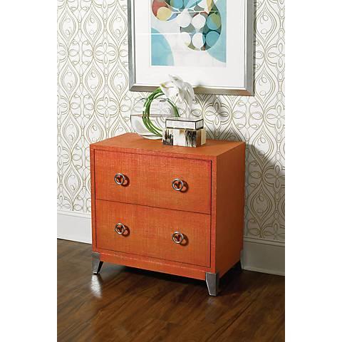 Hammary Hidden Treasures 2-Drawer Orange Accent Chest