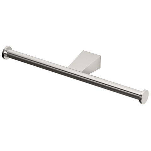 Gatco Bleu Satin Nickel Double Roll Tissue Holder