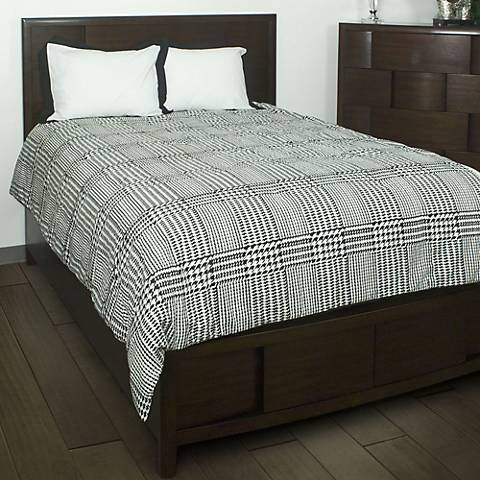 Houndstooth Comforter Bedding Set