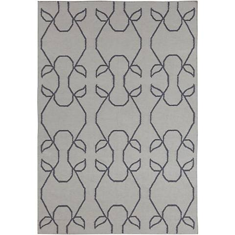 Chandra Lima LIM25708 Gray with Charcoal Area Rug