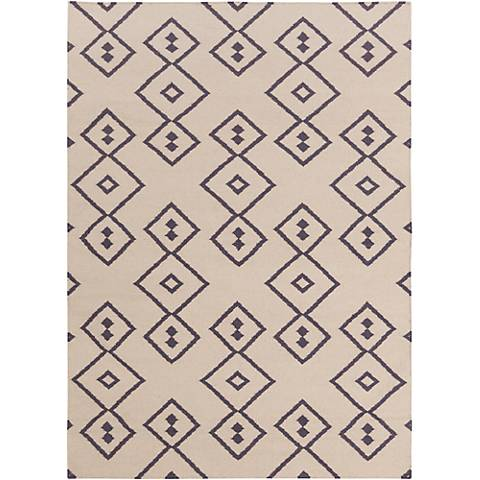 Chandra Lima LIM25709 Beige and Gray Wool Area Rug