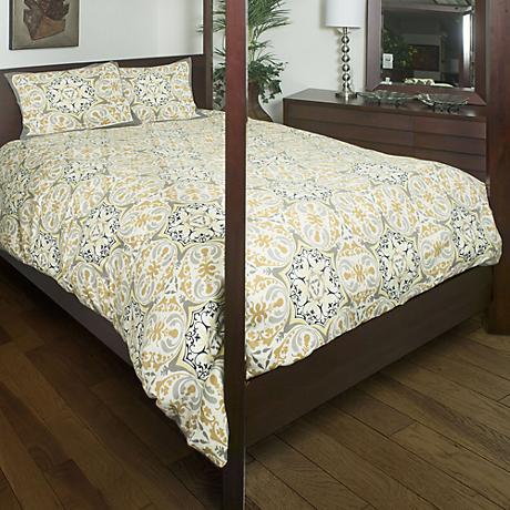 Tradewind Gold and Gray Comforter Set