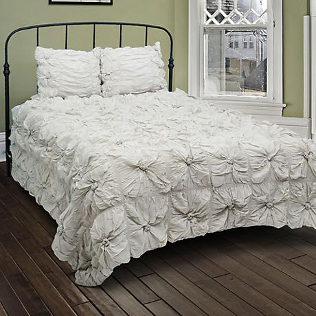 Soft Dreams Gray Ruched Comforter Set