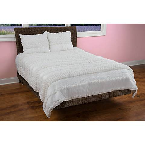 Georgette Ivory Quilted Comforter Set