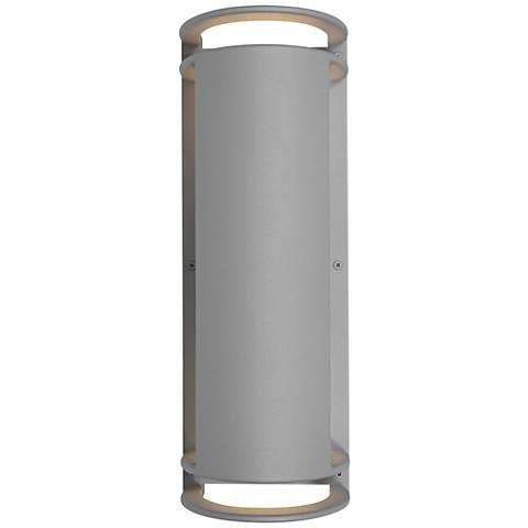 """Poseidon 16 3/4""""H Satin Energy-Efficient Outdoor Wall Light"""