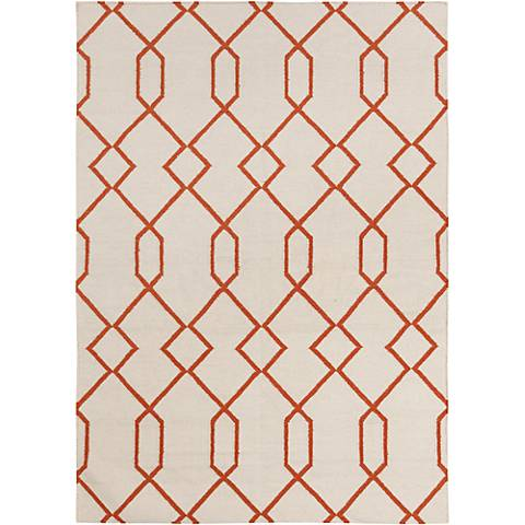 Chandra Lima LIM25712 Beige and Orange Area Rug