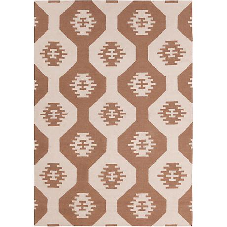 Chandra Lima LIM25715 Beige and Brown Area Rug