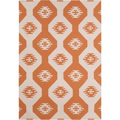 Chandra Lima LIM25716 Orange Wool Area Rug
