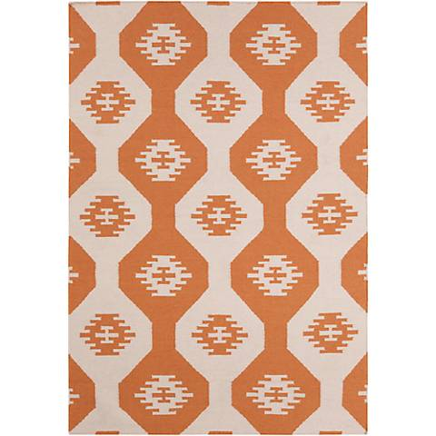 Chandra Lima LIM25716 Orange Wool Area Rug