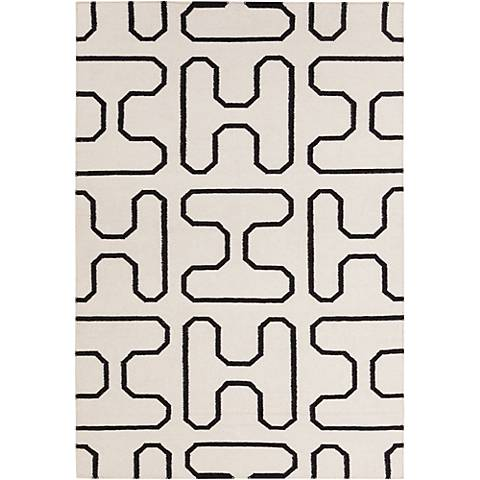 Chandra Lima LIM25730 White and Black Area Rug