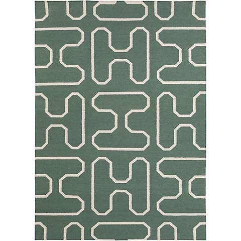 Chandra Lima LIM25732 Green Wool Area Rug