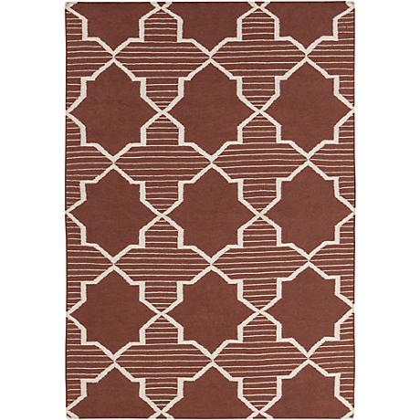Chandra Lima LIM25735 Brown Wool Area Rug