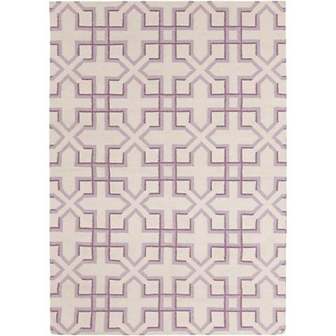 Chandra Lima LIM25741 Purple and White Area Rug