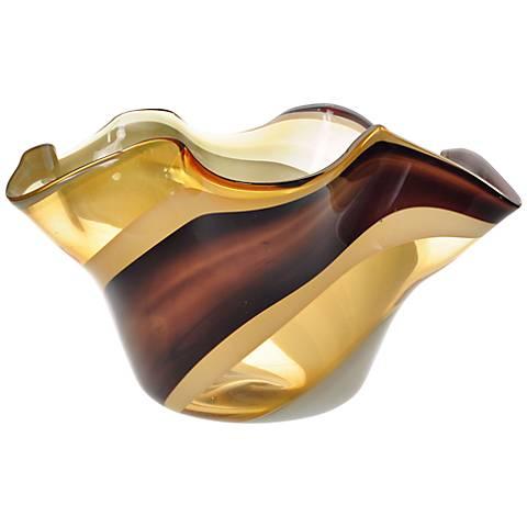 Letona Brown, Amber and Gray Glass Bowl
