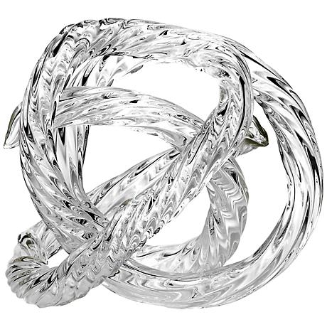 """Infinity Clear Hand-Blown Glass 5"""" High Ornament"""