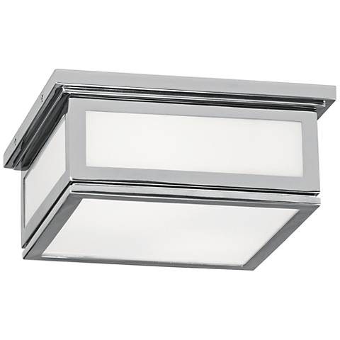 "Bradley 11 1/4"" Wide Polished Chrome Ceiling Light"