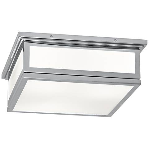 "Bradley 16"" Wide Polished Chrome Ceiling Light"
